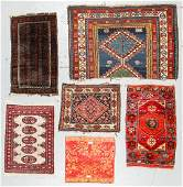 Gentleman's Estate Collection of 6 Oriental Small Rugs