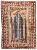 Antique Anatolian Prayer Rug, Turkey: 4'2'' x 5'8''