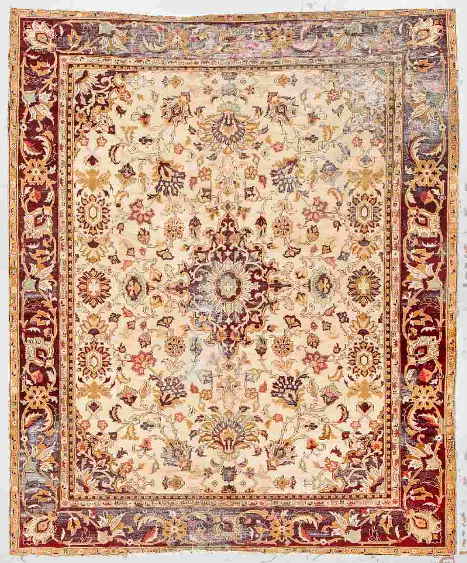 Antique Agra Rug, India: 11'9'' x 14'2''