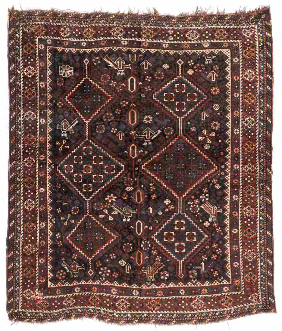 Antique Afshar Rug, Persia: 5'5'' x 6'5''