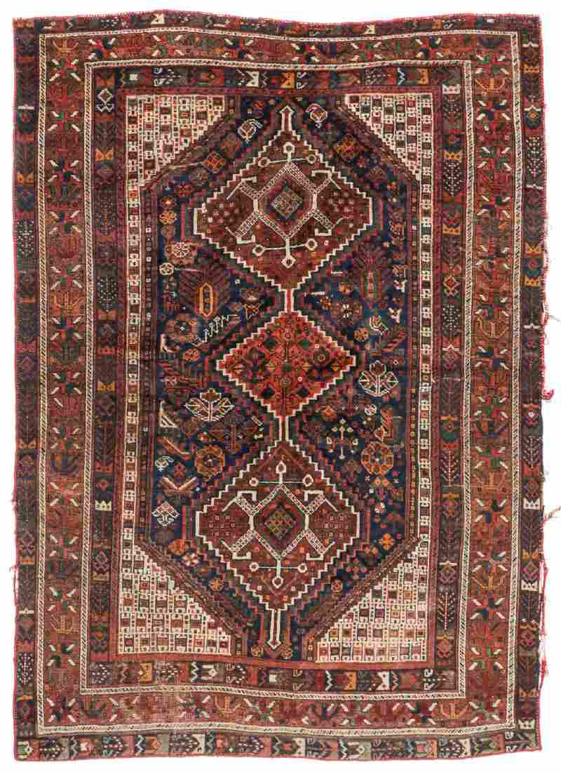 Antique Afshar Rug, Persia: 4'10'' x 6'9''