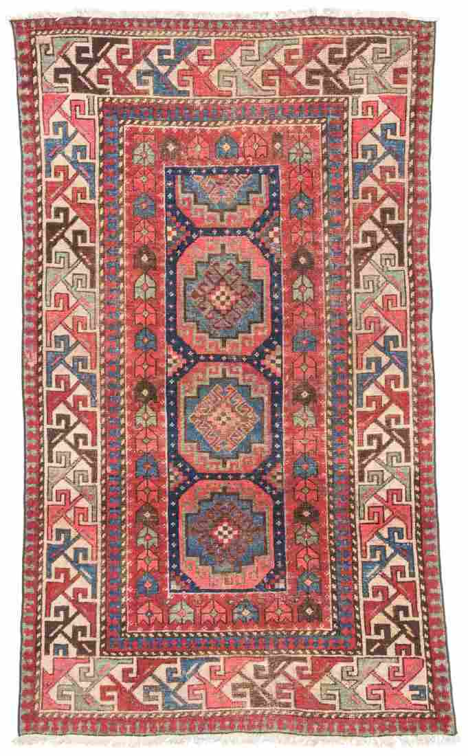 Antique Caucasian Rug: 3'4'' x 5'9''