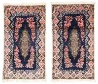 Pair of Semi-Antique Kerman Rugs, Persia
