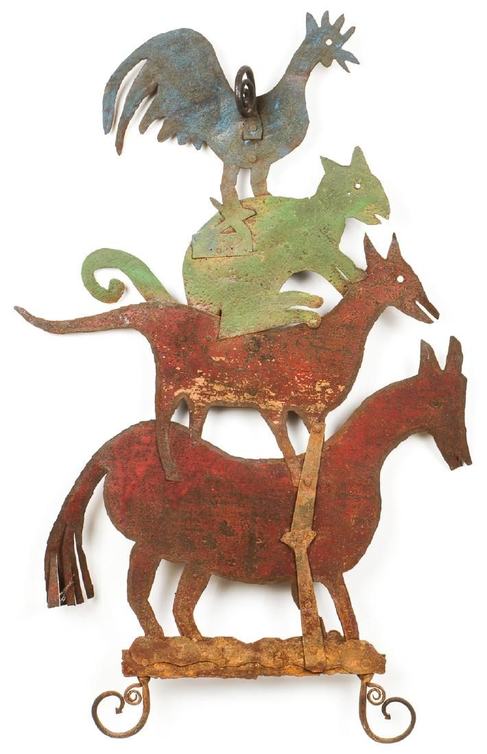 Early 20th c. Bremen Town Musicians Sculpture