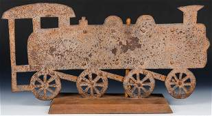 Early 20th c Locomotive Weathervane