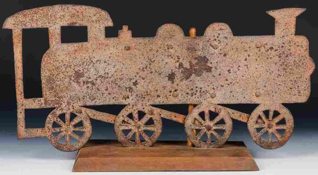 Early 20th c. Locomotive Weathervane
