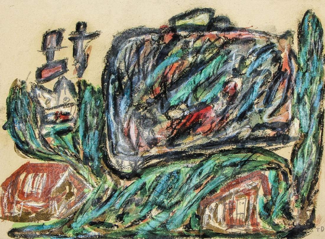"""Thornton Dial (1928-2016) """"Hiding From The Burning"""