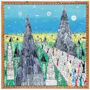 Howard Finster (1916-2001) Visionary Landscape #4494