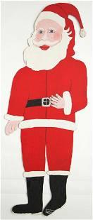 "Howard Finster (1916-2001) First Santa Claus (92"")"