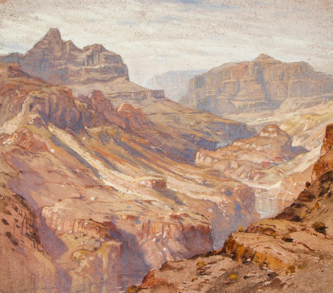"Samuel Colman (1832-1920) ""Grand Canyon"" Drawing"