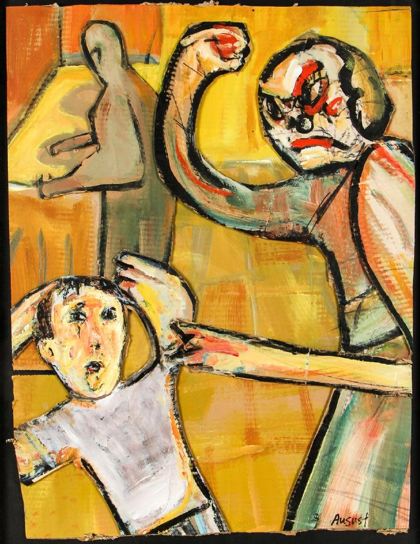 Jim Bloom (American, b. 1968) Mixed Media Painting