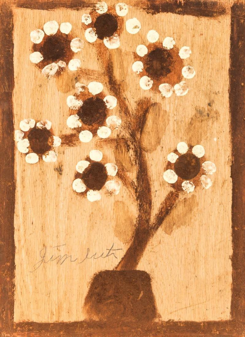 Jimmy Lee Sudduth (1910-2007) Flower Painting