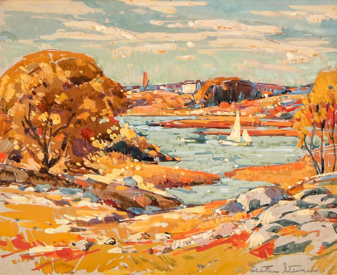 William Lester Stevens (1888-1969) Autumn in New