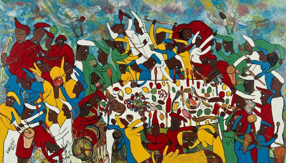Michael Parchment (Jamaican, 1957-2013) Painting