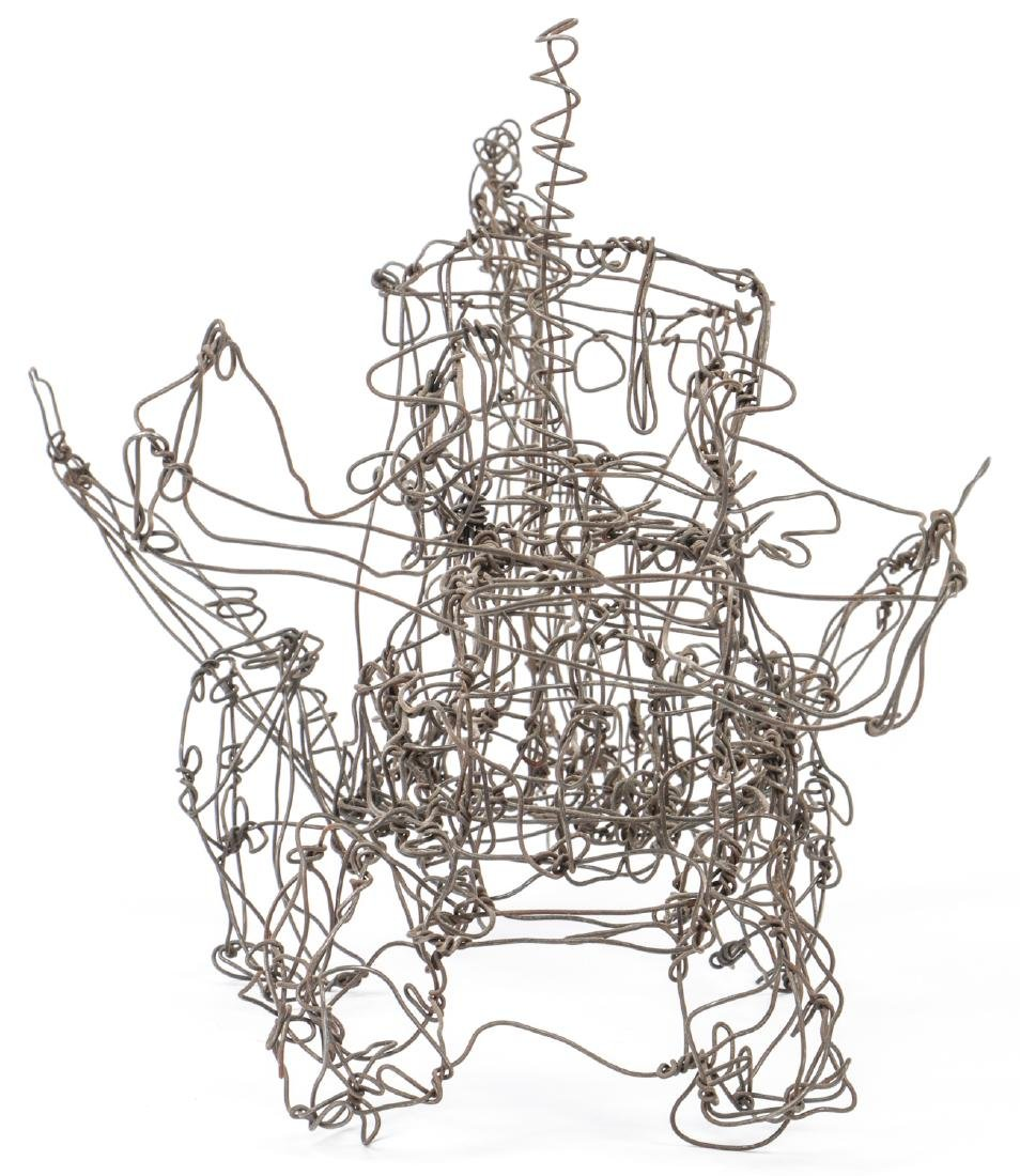 Thai Varick (1941-2001) Backhoe Wire Sculpture - 2