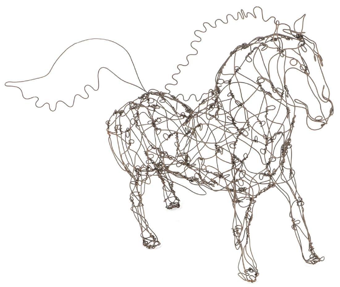 Thai Varick (1941-2001) Stallion Wire Sculpture