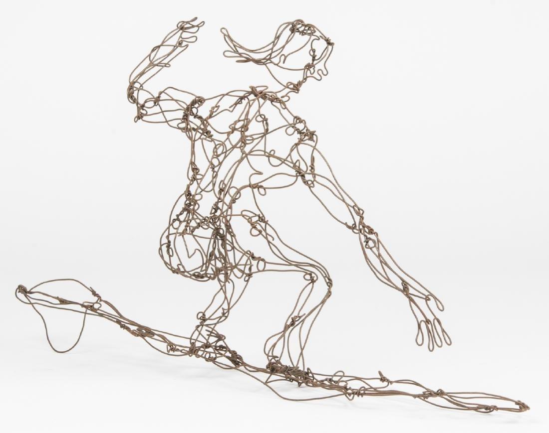 Thai Varick (1941-2001) Surfer Wire Sculpture