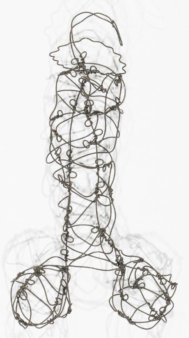 Thai Varick (1941-2001) Phallic Wire Sculpture