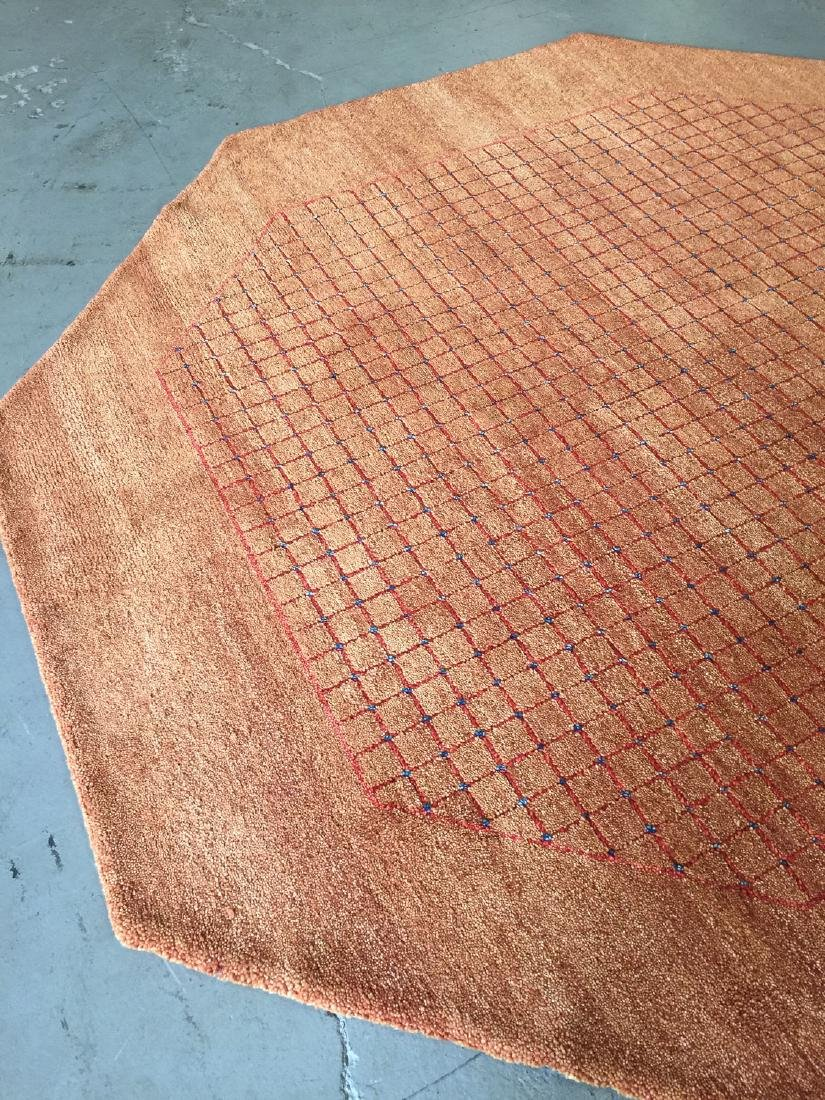 Octagonal Mid Century Style Natural Dye Rug: 7'11'' x - 2