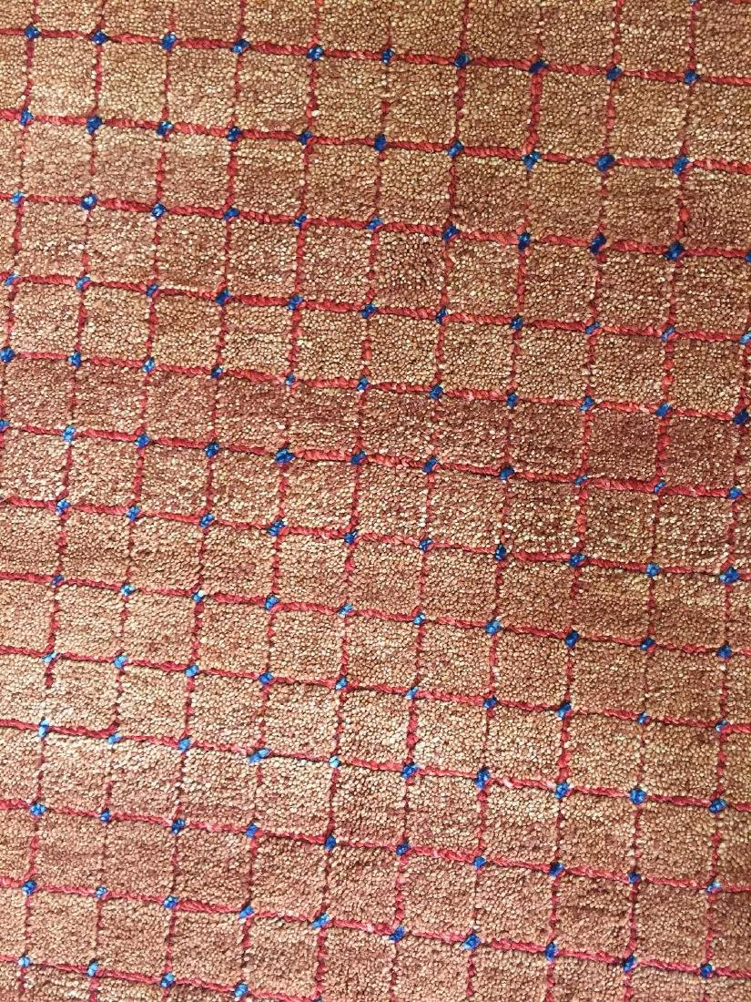 Octagonal Mid Century Style Natural Dye Rug: 7'11'' x - 3