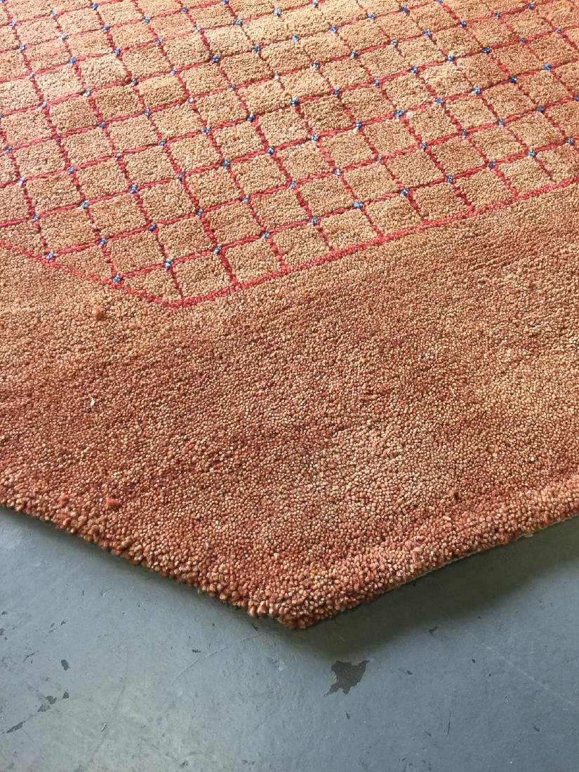 Octagonal Mid Century Style Natural Dye Rug: 7'11'' x - 4