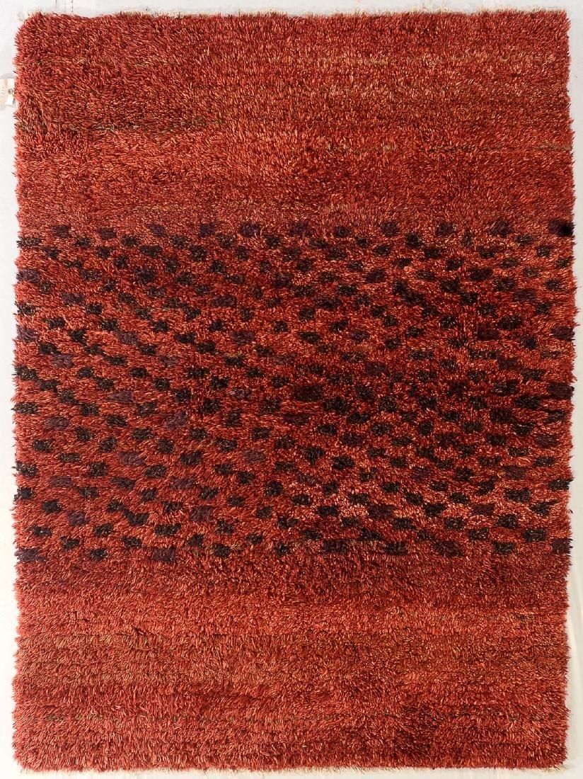 Modern Moroccan Style Shag Rug: 5' x 6'9''