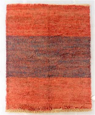 Modern Natural Dye Shag Rug 65 x 8