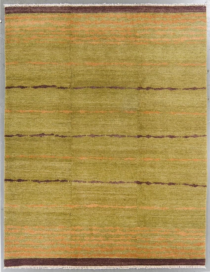 Modern Mid Century Style Natural Dye Rug: 8' x 10'3''