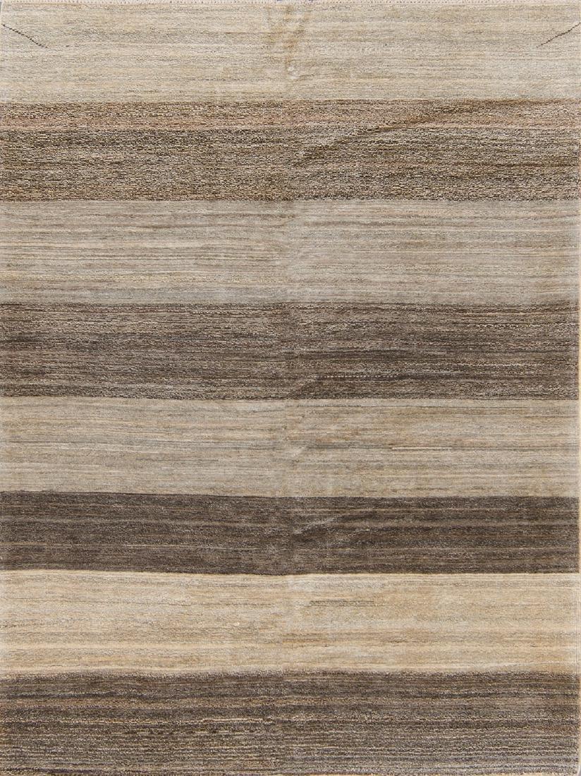 Modern Color Field Afghan Rug: 5' x 6'10''