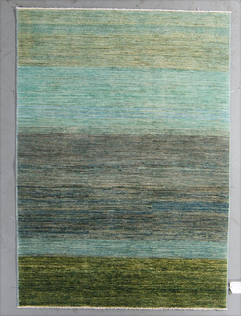 Modern Color Field Afghan Rug: 4'10'' x 6'8''
