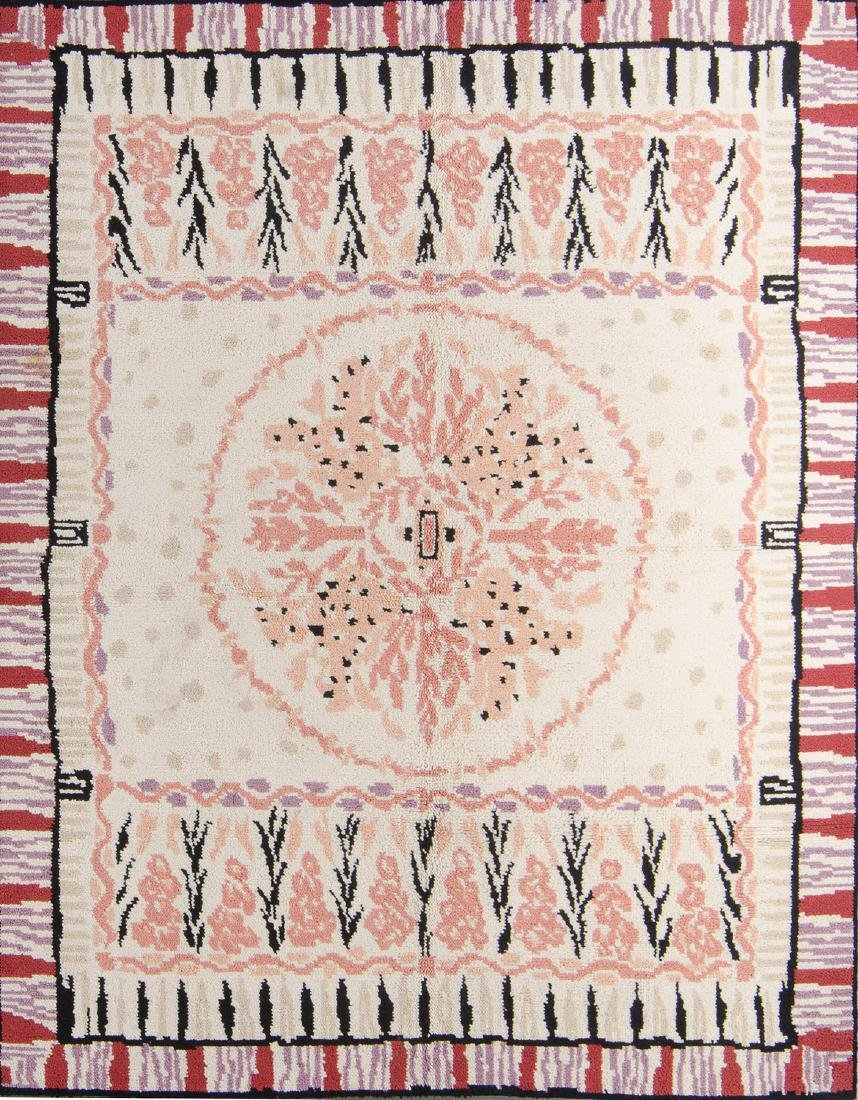 Rare Handknotted Chilean Wool Rug: 7'2'' x 9'4''