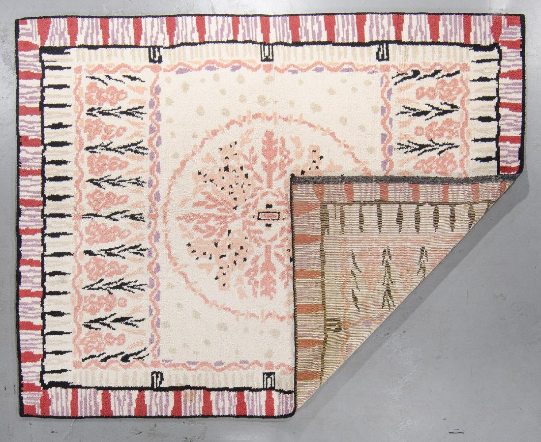 Rare Handknotted Chilean Wool Rug: 7'2'' x 9'4'' - 3