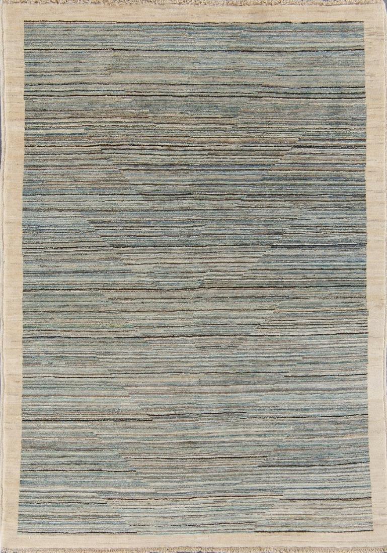 Modern Natural Dye Afghan Rug: 4'2'' x 5'11''