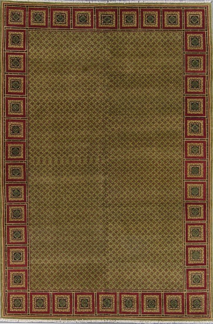 Fine Khotan Style Rug: 6' x 9'2''