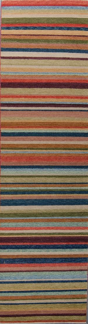 Natural Dye Rug with Stripes: 2'10'' x 10'