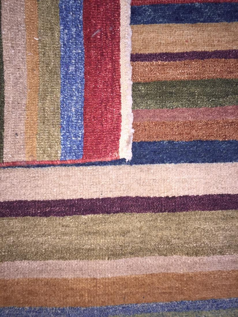 Natural Dye Rug with Stripes: 2'10'' x 10' - 2