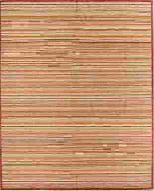 Natural Dye Rug with Stripes 81 x 102