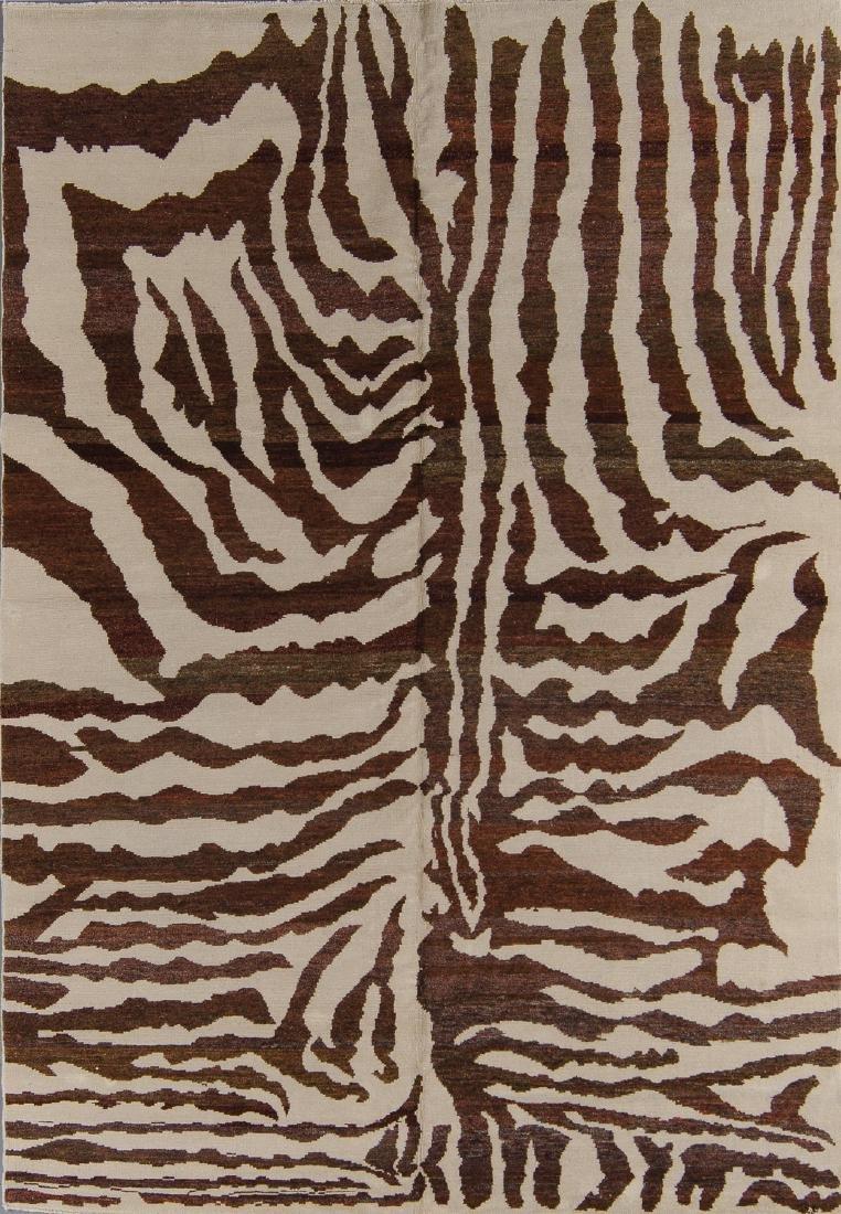 Tiger Stripe Tibetan Rug: 5'11'' x 9'