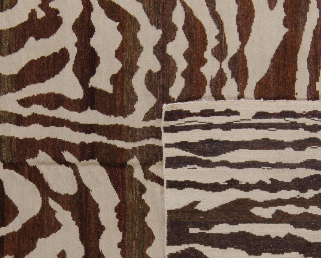 Tiger Stripe Tibetan Rug: 5'11'' x 9' - 2