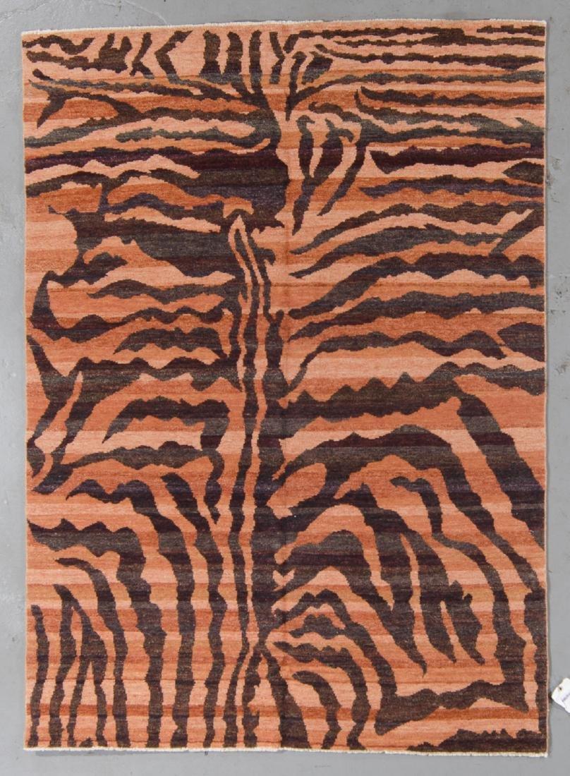 Tiger Stripe Tibetan Rug: 5'1'' x 7'1''