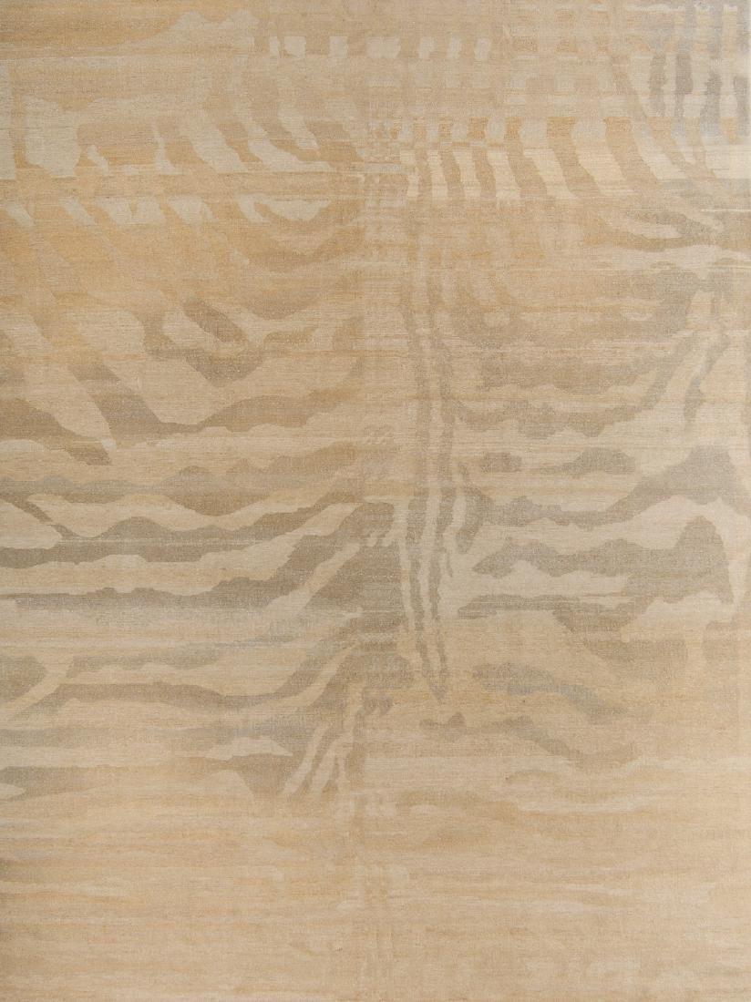 Tiger Stripe Tibetan Rug: 9'2'' x 12'
