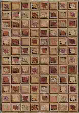 Natural Dye Folk Rug 4 x 510
