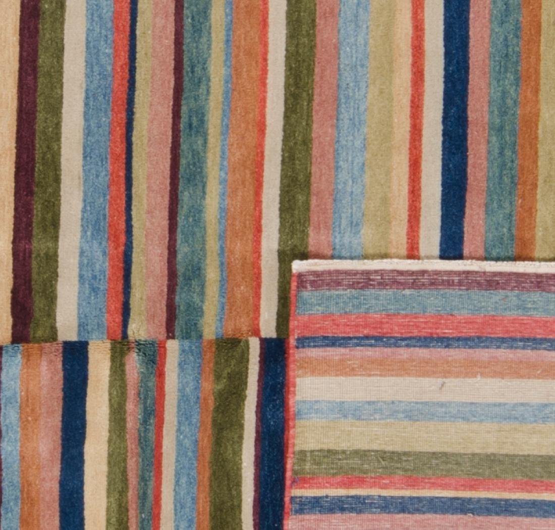 Natural Dye Rug with Stripes: 4'10'' x 6'10'' - 2
