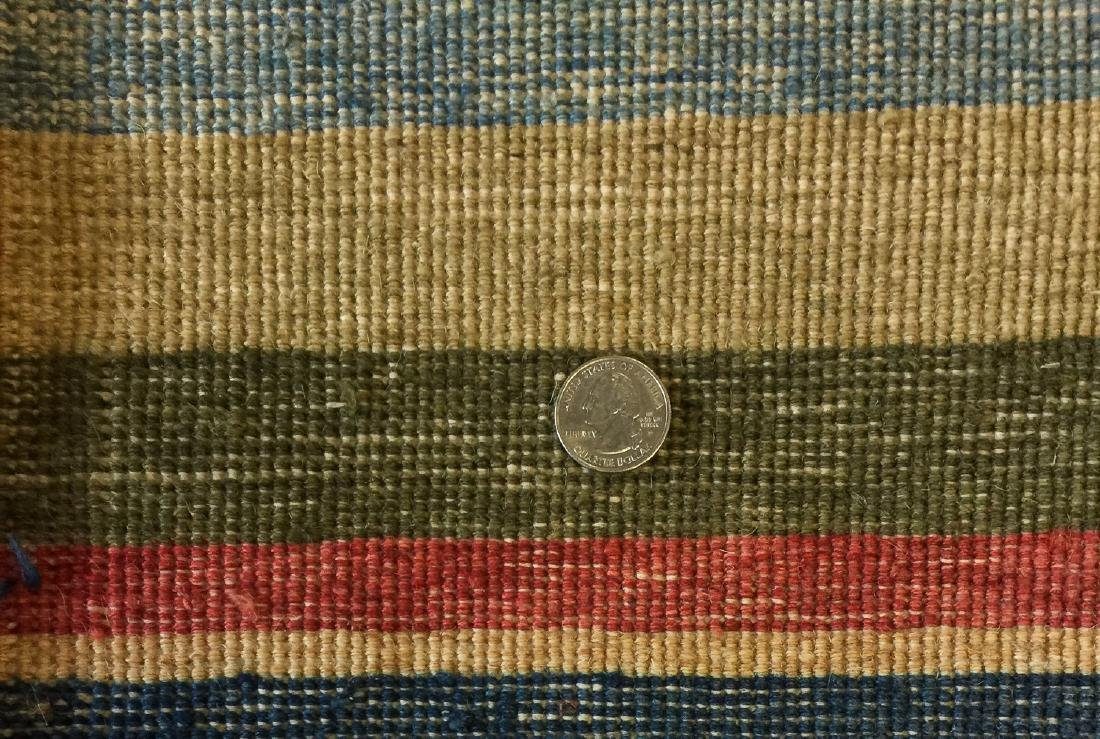 Natural Dye Rug with Stripes: 4'10'' x 6'10'' - 3