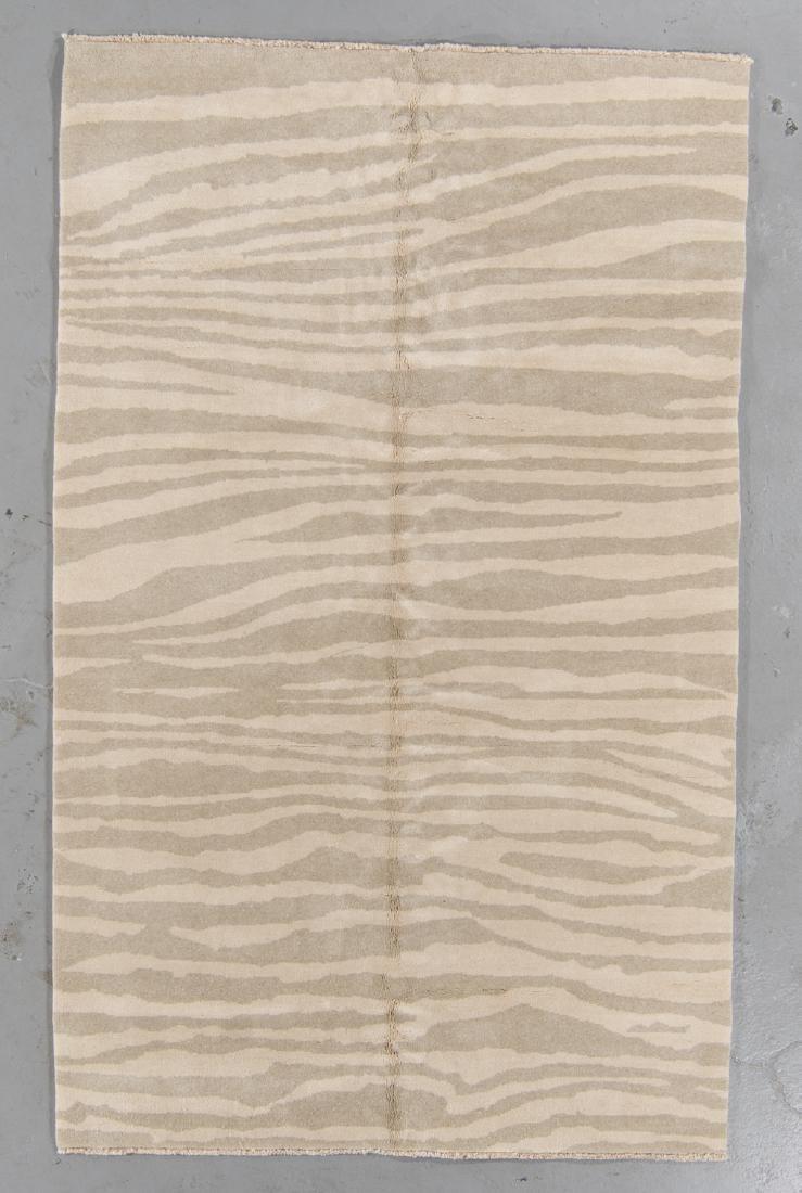 Tiger Stripe Tibetan Rug: 5' x 8'1''