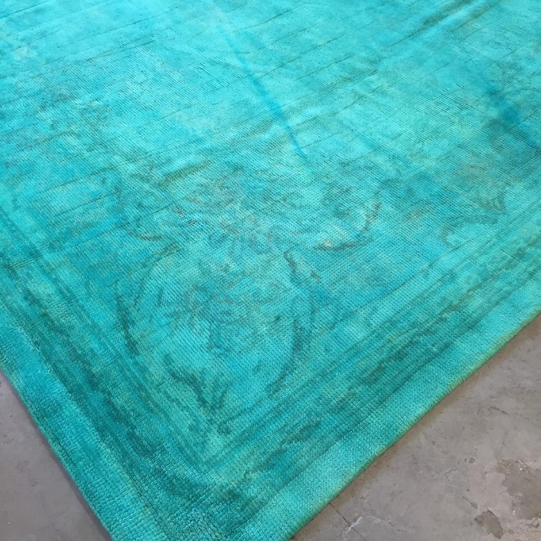 Vintage Overdyed Savonnerie Carpet, Czechoslovakia: - 2