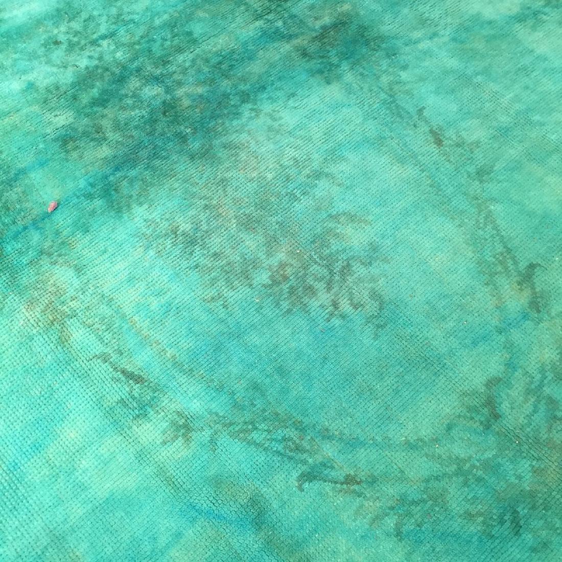 Vintage Overdyed Savonnerie Carpet, Czechoslovakia: - 3