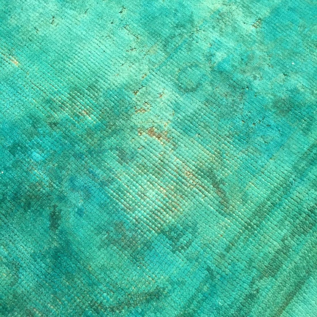 Vintage Overdyed Savonnerie Carpet, Czechoslovakia: - 4