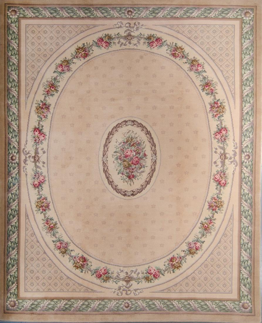 Vintage Savonnerie Carpet, Czechoslovakia: 9'10'' x