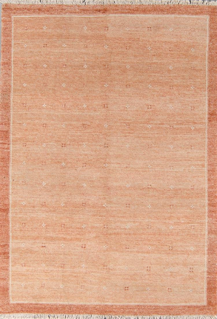 Modern Mid Century Style Natural Dye Rug: 6'1'' x 8'8''